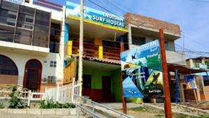 Outside of Indigan Surf Hostal Huanchaco Peru