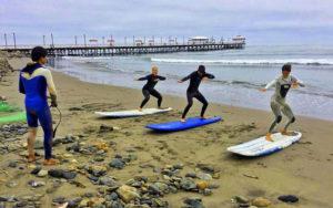 Urcia surf school - dry practice