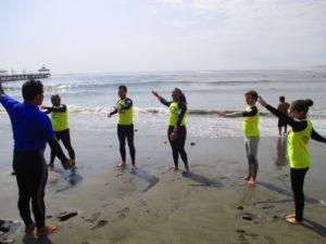 Urcia surf school - surf warm-up