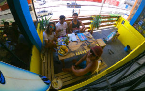 Indigan Surf Hostel - Chilling on the Balcony