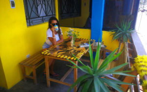 Indigan Surf Hostel - Sun and Coffee on the Balcony