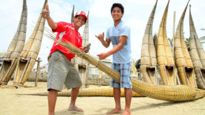 Urcia Surf School Huanchaco - Caballito de Totora (Reed Boat) Trip Making Of