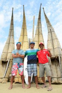 Urcia Surf School Huanchaco - Caballitos de Totora with John, Juninho and Santos Urcia